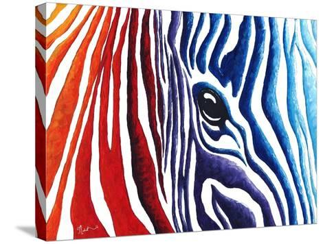 Abstract Pop Zebra-Megan Aroon Duncanson-Stretched Canvas Print