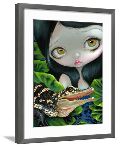 Mermaid with a Baby Alligator-Jasmine Becket-Griffith-Framed Art Print