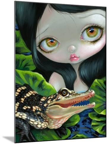 Mermaid with a Baby Alligator-Jasmine Becket-Griffith-Mounted Art Print
