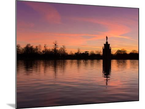 Bushey Park Lake At Sunset-Charles Bowman-Mounted Photographic Print