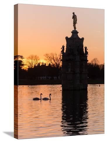 Diana Fountain Bushey Park-Charles Bowman-Stretched Canvas Print