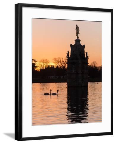 Diana Fountain Bushey Park-Charles Bowman-Framed Art Print
