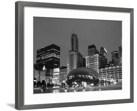 Chicago Black White-Patrick Warneka-Framed Art Print