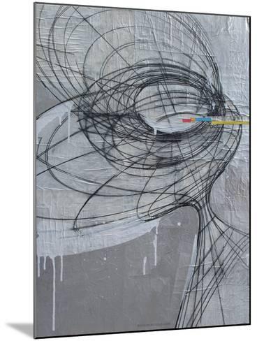 Silver Swirls 1-Enrico Varrasso-Mounted Art Print