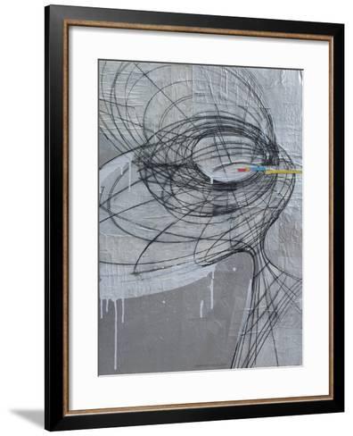 Silver Swirls 1-Enrico Varrasso-Framed Art Print