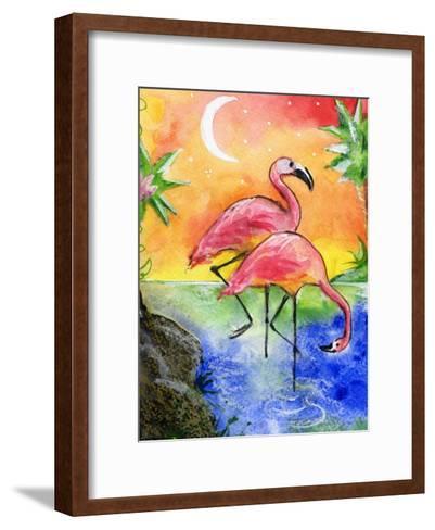 Pink Flamingos-sylvia pimental-Framed Art Print