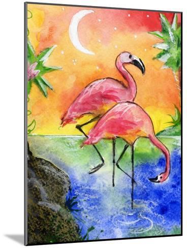 Pink Flamingos-sylvia pimental-Mounted Art Print