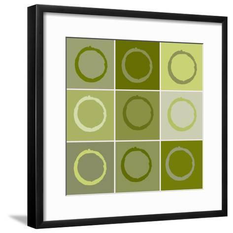 Nine Patch Circles Of Life-Ricki Mountain-Framed Art Print