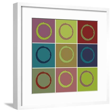 Nine Patch Circle & Colors-Ricki Mountain-Framed Art Print