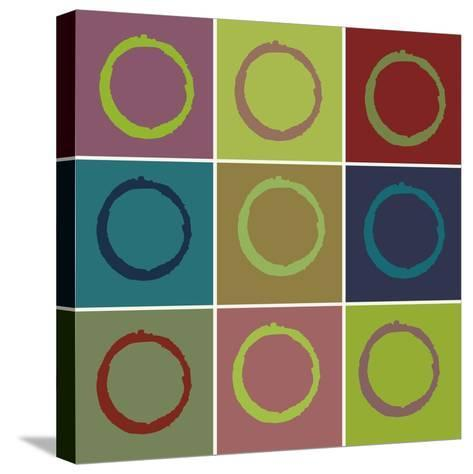 Nine Patch Circle & Colors-Ricki Mountain-Stretched Canvas Print