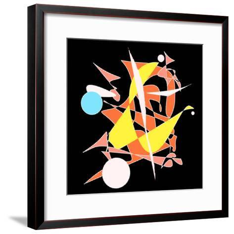 Dropping The Ball Color-Ruth Palmer-Framed Art Print