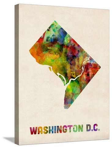 Washington DC, District of Columbia Watercolor Map-Michael Tompsett-Stretched Canvas Print