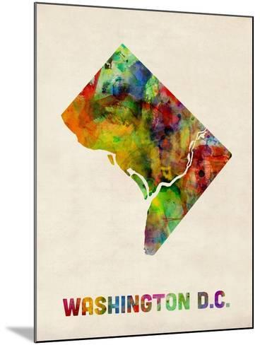 Washington DC, District of Columbia Watercolor Map-Michael Tompsett-Mounted Art Print