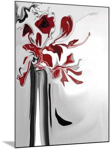 Red Orchid 2-Rabi Khan-Mounted Art Print