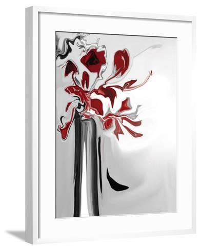 Red Orchid 2-Rabi Khan-Framed Art Print