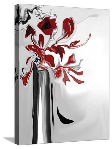 Red Orchid 2-Rabi Khan-Stretched Canvas Print