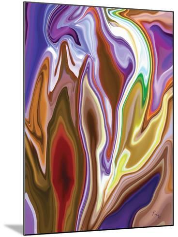 Purple Spring 2-Rabi Khan-Mounted Art Print