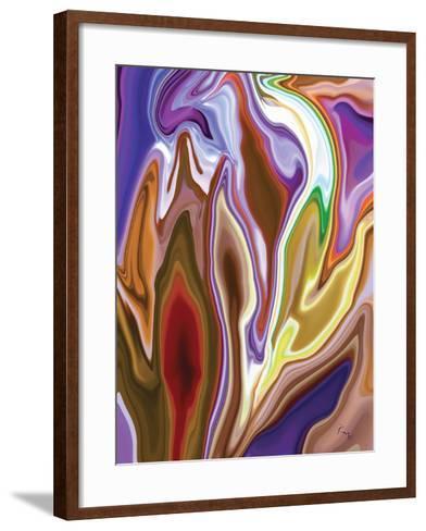 Purple Spring 2-Rabi Khan-Framed Art Print