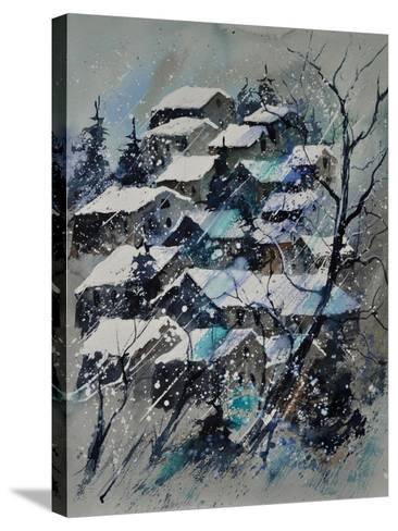 Watercolor 4121132 Snow Landscape-Pol Ledent-Stretched Canvas Print
