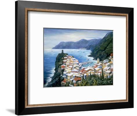 Rooftops of Vernazza-Marilyn Dunlap-Framed Art Print