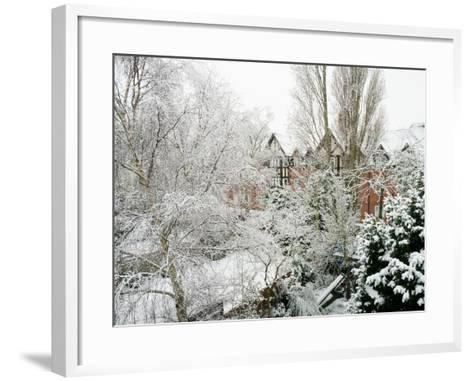 Winter Suburb-Charles Bowman-Framed Art Print