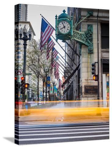 Marshall Field Clock Chicago-Steve Gadomski-Stretched Canvas Print