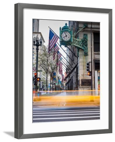 Marshall Field Clock Chicago-Steve Gadomski-Framed Art Print