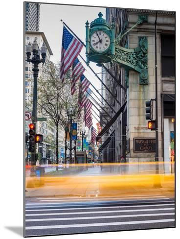 Marshall Field Clock Chicago-Steve Gadomski-Mounted Photographic Print