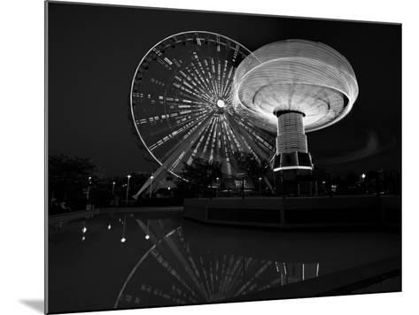 Navy Pier Nights Chicago BW-Steve Gadomski-Mounted Photographic Print
