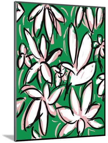 Modern Green Floral-Jan Weiss-Mounted Photographic Print