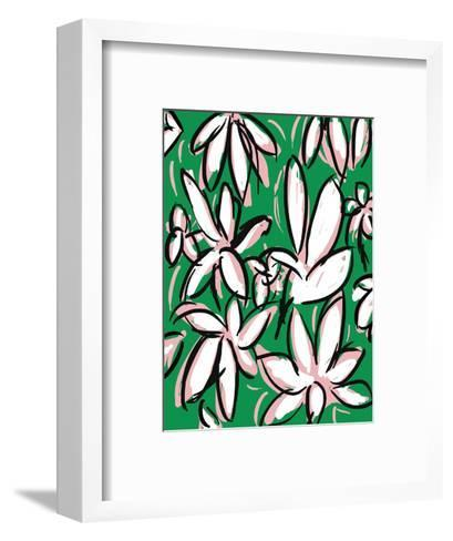 Modern Green Floral-Jan Weiss-Framed Art Print