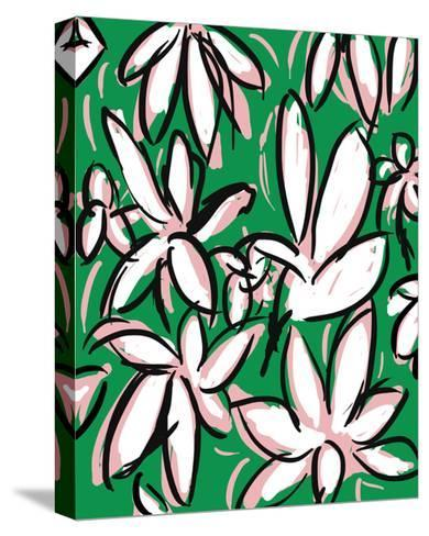 Modern Green Floral-Jan Weiss-Stretched Canvas Print