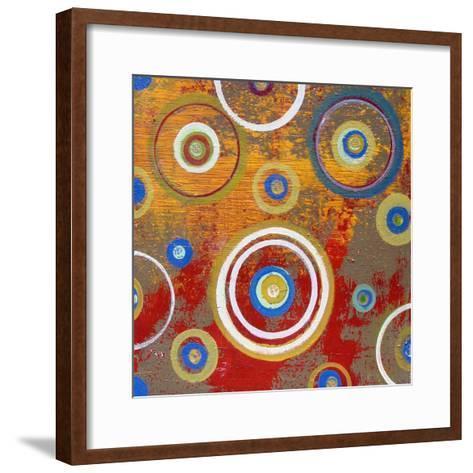 Abstract Orange Fizz-Ricki Mountain-Framed Art Print