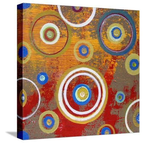 Abstract Orange Fizz-Ricki Mountain-Stretched Canvas Print