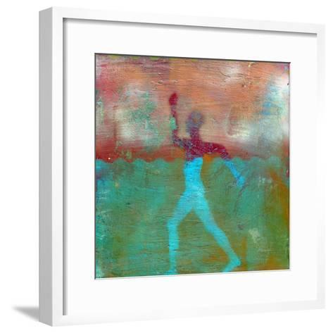 Marathon I Abstract-Ricki Mountain-Framed Art Print