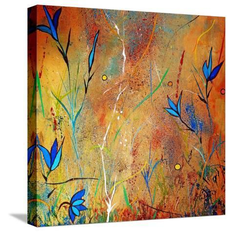 Little Blue Blooms-Ruth Palmer-Stretched Canvas Print