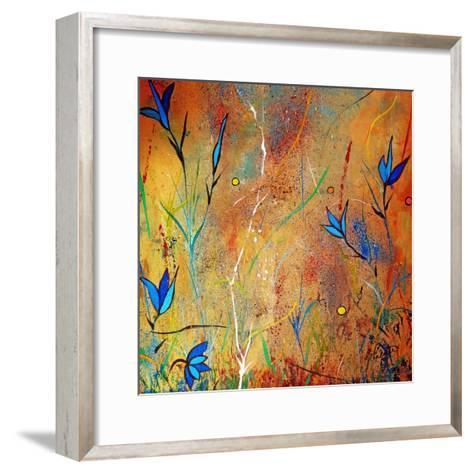 Little Blue Blooms-Ruth Palmer-Framed Art Print