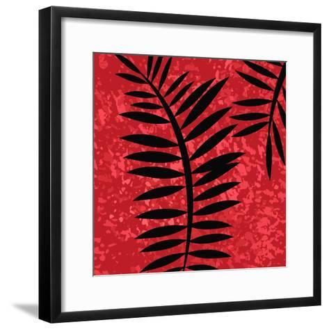 Red Sponge Fern II-Ruth Palmer-Framed Art Print