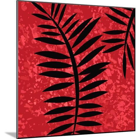 Red Sponge Fern II-Ruth Palmer-Mounted Art Print