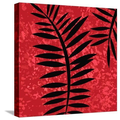 Red Sponge Fern II-Ruth Palmer-Stretched Canvas Print