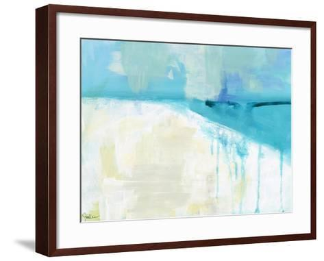 Coastal Blues 1-Jan Weiss-Framed Art Print