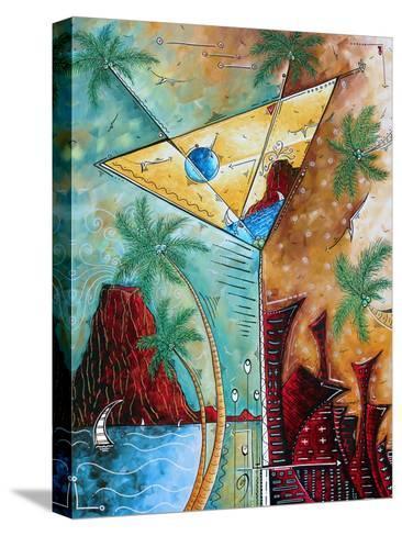 Tropical Martini Glass Cityscape PoP Art-Megan Aroon Duncanson-Stretched Canvas Print