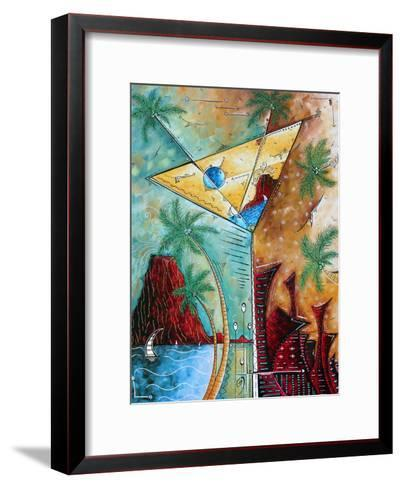 Tropical Martini Glass Cityscape PoP Art-Megan Aroon Duncanson-Framed Art Print