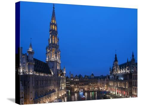 Brussels Grand Place 2-Charles Bowman-Stretched Canvas Print
