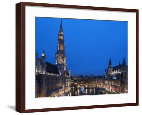 Brussels Grand Place 2-Charles Bowman-Framed Art Print