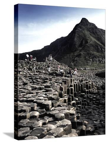 Giants Causeway-Charles Bowman-Stretched Canvas Print