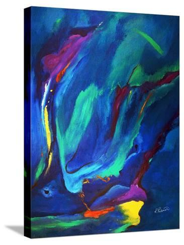 Deep Blue Thoughts-Ruth Palmer-Stretched Canvas Print