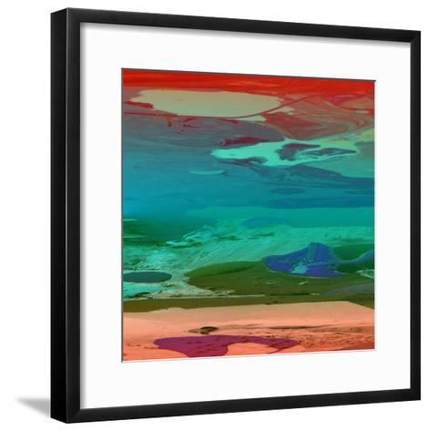 Red Sky At Night-Ricki Mountain-Framed Art Print