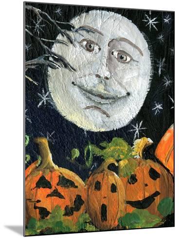 Pumpkin Patch Halloween Full Moon Face-sylvia pimental-Mounted Art Print