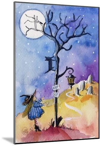 Halloween Graveyard Black Cat Keep Out-sylvia pimental-Mounted Art Print